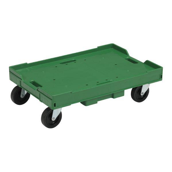 三甲(サンコー) 台車/荷車 サンキャリー 【ボルトレスタイプ】 6040-2 グリーン(緑)【代引不可】