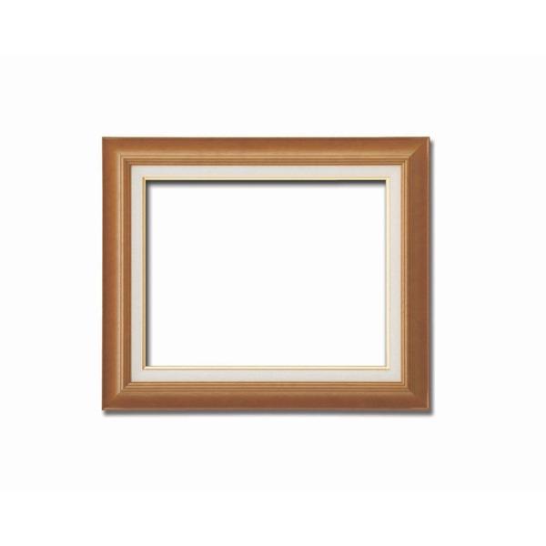 【油額】油絵額・キャンバス額・木製油絵額・茶色油絵額 ■F10号(530×455mm)「チーク」