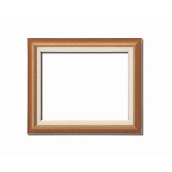 【油額】油絵額・キャンバス額・木製油絵額・茶色油絵額 ■F12号(606×500mm)「チーク」