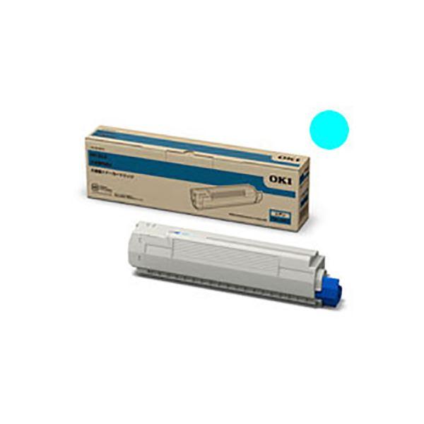 (業務用3セット) 【純正品】 OKI 沖データ トナーカートリッジ 【TNR-C3PC2 C シアン】 大容量