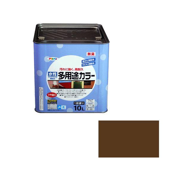 アサヒペン AP 水性多用途カラー 10L ブラウン