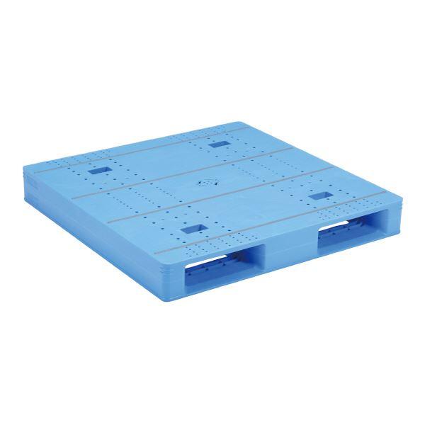 三甲(サンコー) プラスチックパレット/プラパレ 【片面使用タイプ】 テープ上 軽量 LX-1111D2-4 ブルー(青)【代引不可】