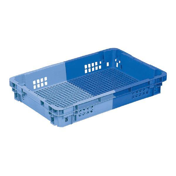 (業務用10個セット)三甲(サンコー) SNコンテナ/2色コンテナボックス 【Cタイプ】 #20PS ブルー×ライトブルー 【代引不可】