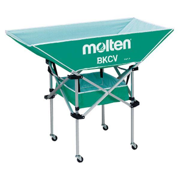 モルテン(Molten) 折りたたみ式平型軽量ボールカゴ(背高) 緑 BKCVHG