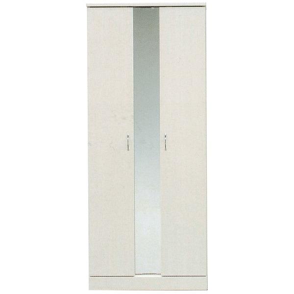 ハイシューズボックス(下駄箱) 幅75cm×奥行38cm×高さ180cm 日本製 ホワイト(白) 【PLAZA2】プラザ2 【完成品】【代引不可】