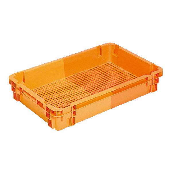 (業務用10個セット)三甲(サンコー) SNコンテナ/2色コンテナボックス 【Cタイプ】 #23W オレンジ/オレンジ 【代引不可】