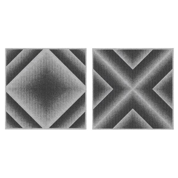 サンコー おくだけ吸着 バリアフリータイルマット グラデーション 36枚組(30×30cm) GY グレー