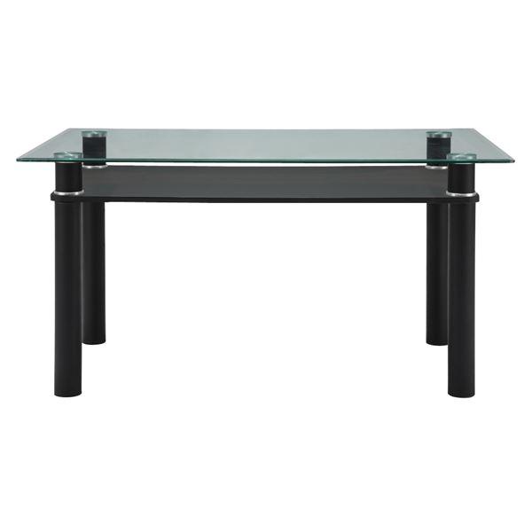 あずま工芸 ダイニングテーブル ガラス天板 幅140cm 【2梱包】 GDT-7709【代引不可】