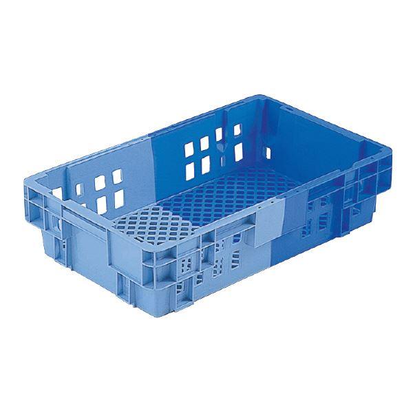 (業務用10個セット)三甲(サンコー) SNコンテナ/2色コンテナボックス 【Cタイプ】 #21BL ブルー×ライトブルー 【代引不可】