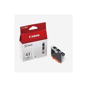 (業務用40セット) Canon キヤノン インクカートリッジ 純正 【BCI-43LGY】 ライトグレー