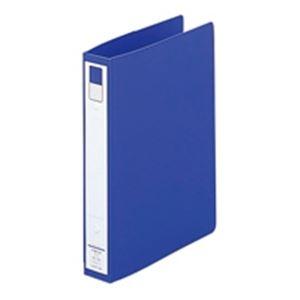 (業務用100セット) LIHITLAB リング式ファイル 【A5/2穴】 タテ型 背幅:36mm F-881U-8 青