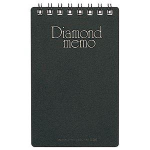 (まとめ) ミドリ ダイヤメモ<M> 黒 19002-011 1冊 【×80セット】