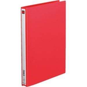 (業務用100セット) キングジム リング式ファイル 【A4/2穴】 タテ型 背幅:27mm 611 赤