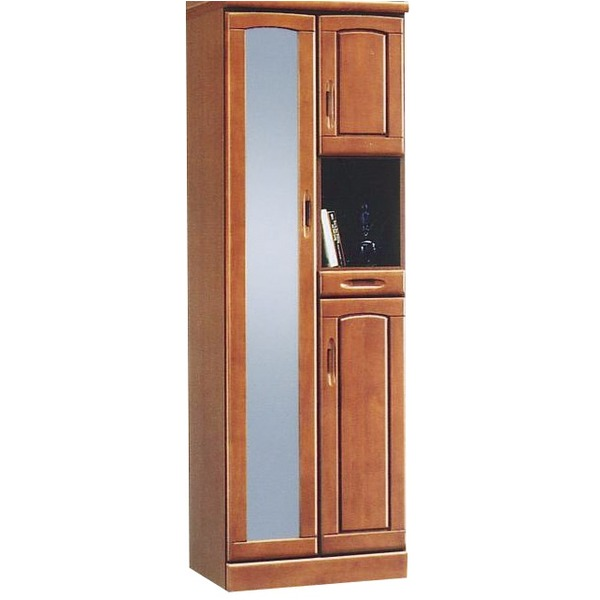 ハイシューズボックス(下駄箱) 幅60cm×奥行40cm×高さ180cm 木製 棚板付き 日本製 ブラウン 【Horizon3】ホライゾン3 【完成品 開梱設置】【代引不可】
