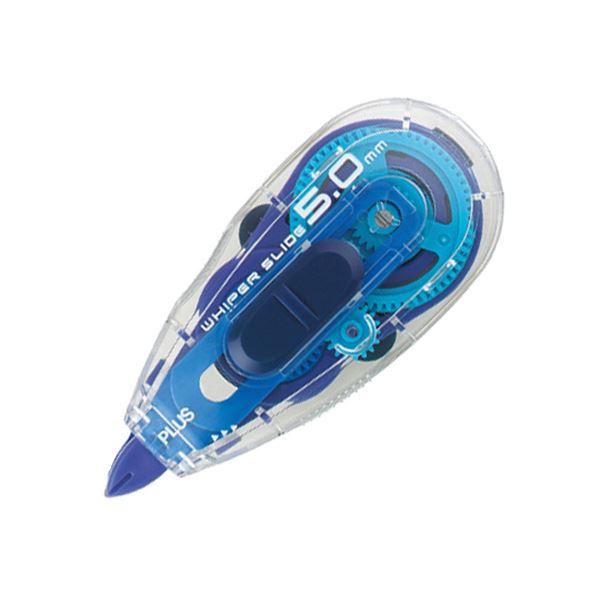 (まとめ) プラス 修正テープ ホワイパースライドベーシックカラー 本体 5mm幅×10m ブルー WH-015 1個 【×30セット】