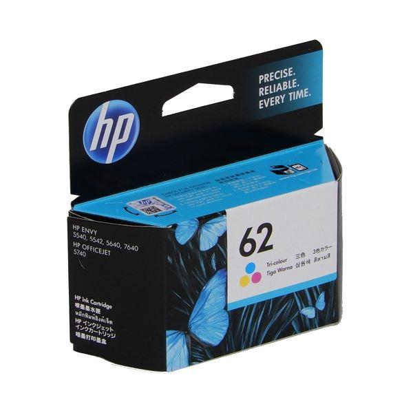 (まとめ) HP インクHP62 C2P06AAカラー【×5セット】