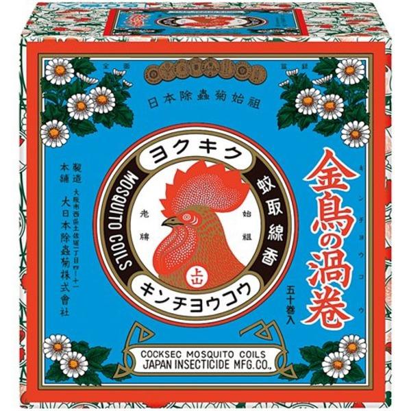 (まとめ)大日本除蟲菊 蚊取り線香 金鳥の渦巻 50巻【×5セット】