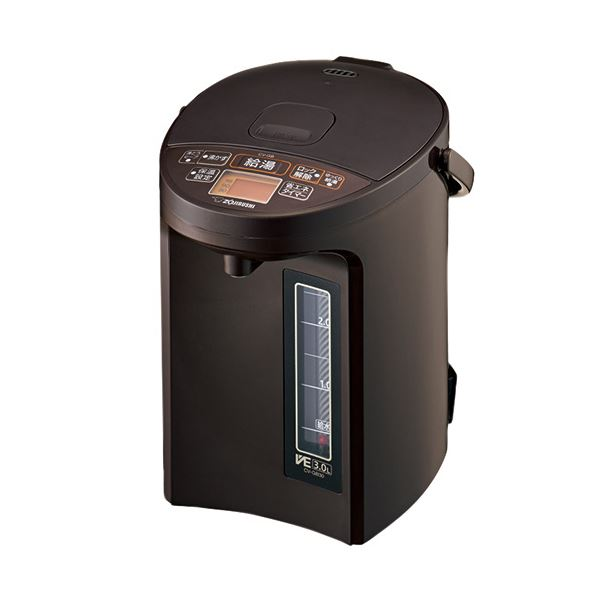 象印 マイコン沸とうVE電気まほうびん優湯生 3.0L ブラウン CV-GB30-TA 1台