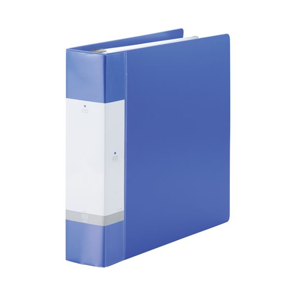 (まとめ)LIHITLAB クリヤーブック リクエスト G3808-8 A4S 青【×10セット】