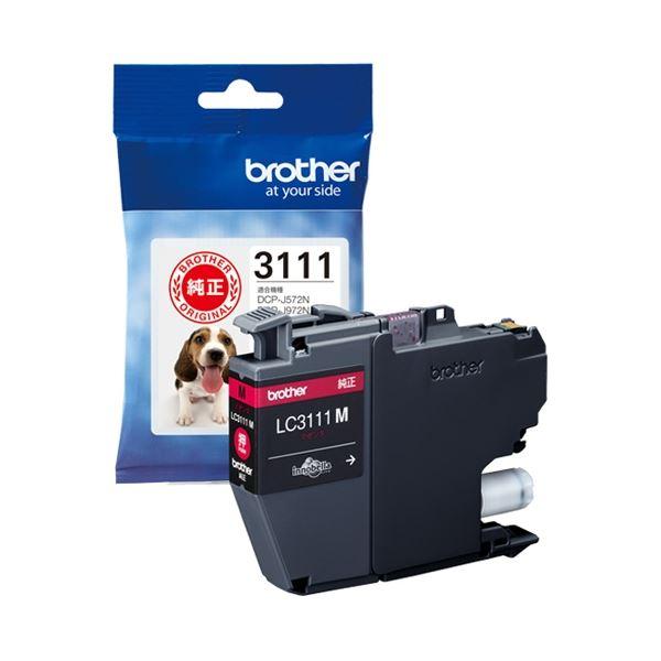 (まとめ) ブラザー インクカートリッジLC3111M【×10セット】