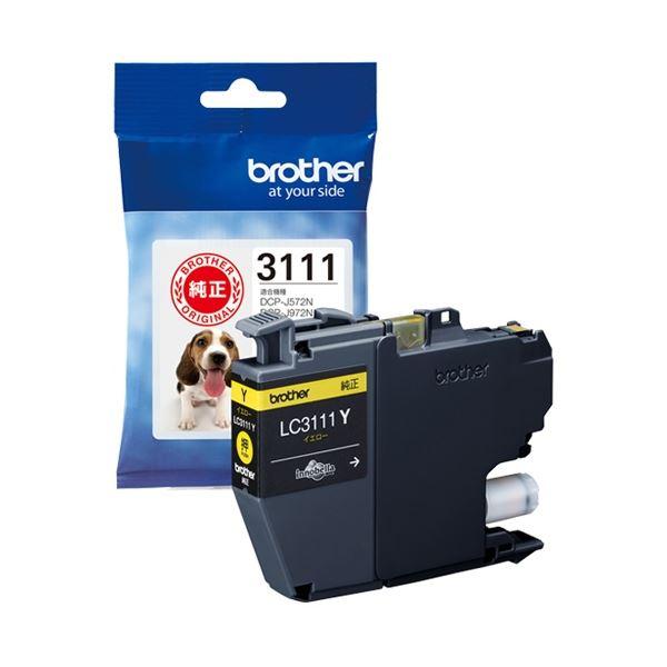 (まとめ) ブラザー インクカートリッジLC3111Y【×10セット】