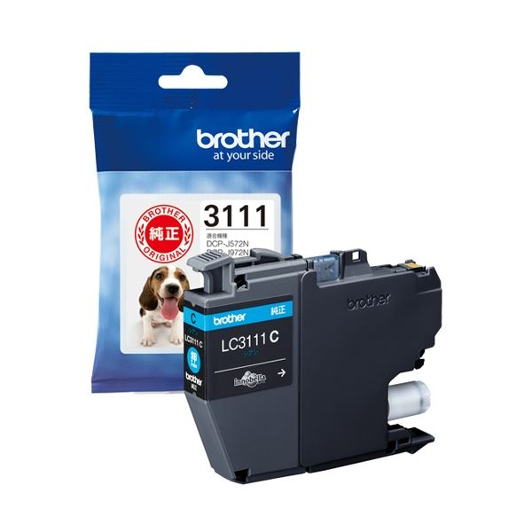 (まとめ) ブラザー インクカートリッジLC3111C【×10セット】