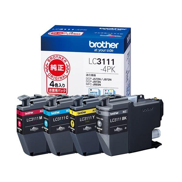 (まとめ) ブラザー インクカートリッジLC3111-4PK【×3セット】