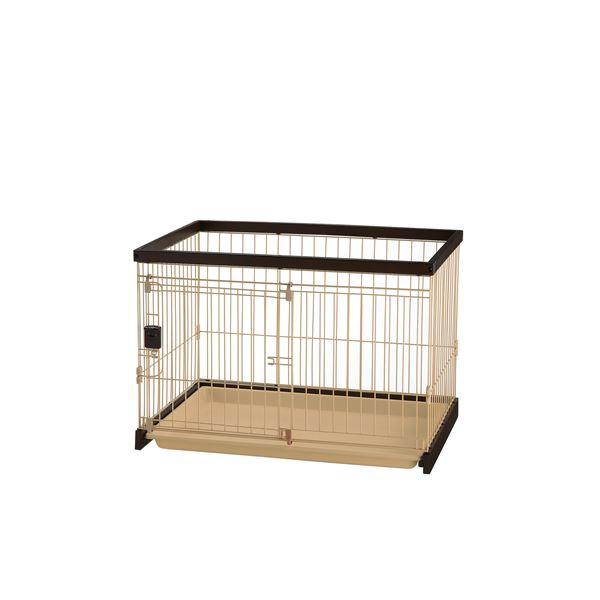 木製お掃除簡単ペットサークル 90-60 ダークブラウン【ペット用品】