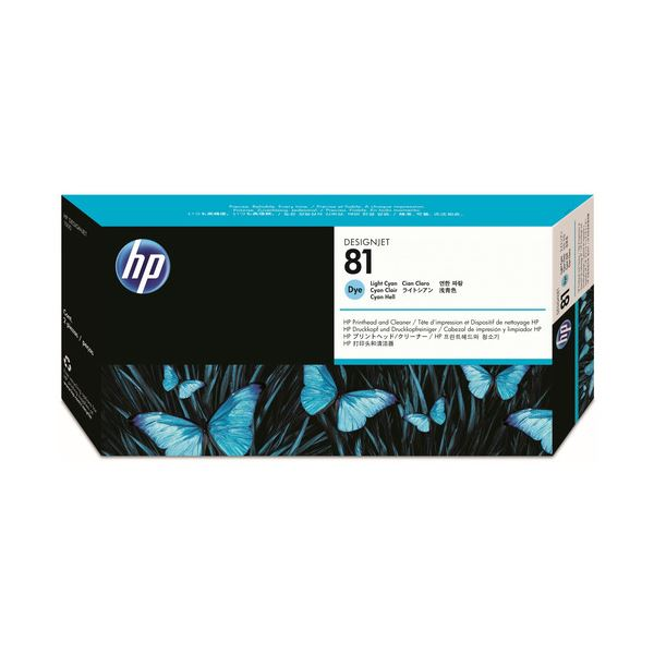 HP HP81プリントヘッド/クリーナー ライトシアン C4954A 1個