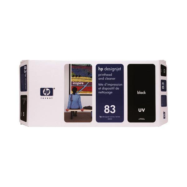 HP HP83プリントヘッド/クリーナーUV ブラック C4960A 1個