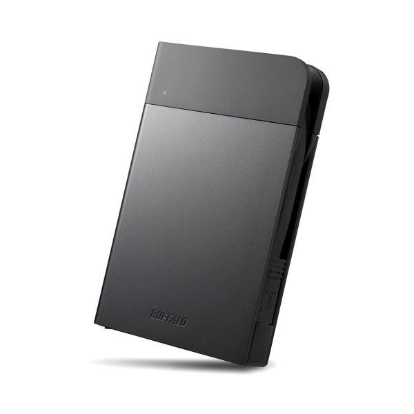 バッファロー MiniStationICカード対応MILスペック耐衝撃ポータブルHDD 2TB ブラック HD-PZN2.0U3-B 1台