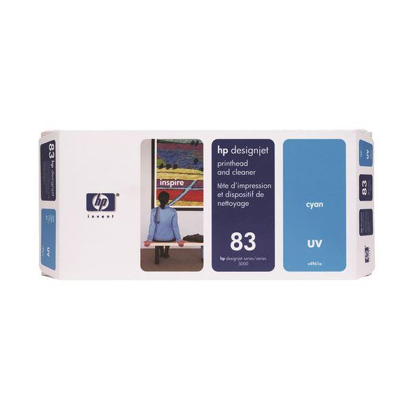 HP HP83プリントヘッド/クリーナーUV シアン C4961A 1個