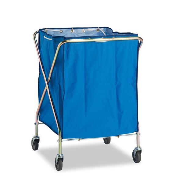 ダストカーSD/運搬カート 【大 容量:約236L】 本体、袋セット 折りたたみ式 〔工場 デパート スーパー 店舗 オフィス 施設〕