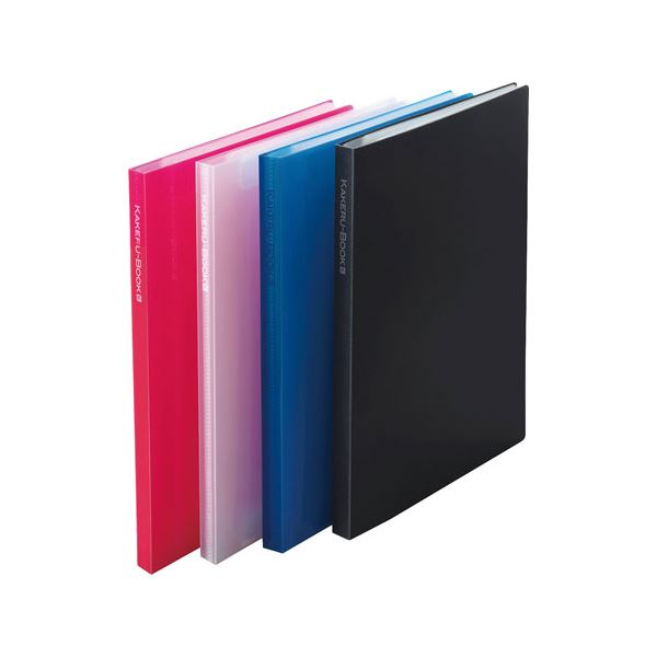 (まとめ) ビュートン かけるブック16面 2P ブルー KRB-A4-16CB【×10セット】