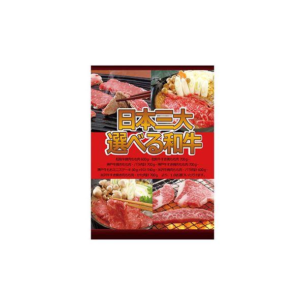 A3パネル日本三大選べる和牛【代引不可】