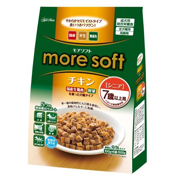 (まとめ)アドメイト more soft チキン シニア 600g(100g×6袋)【×12セット】【ペット用品・犬用フード】