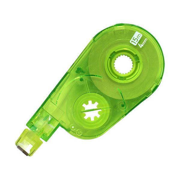(まとめ) プラス 修正テープ ホワイパースイッチ交換テープ(簡易パッケージ) 4mm幅×15m グリーン WH-1514R GR 1セット(10個) 【×5セット】