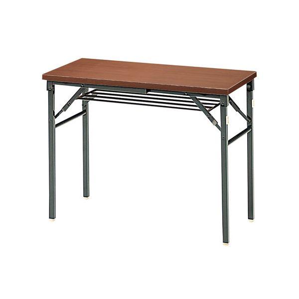 ジョインテックス 脚折りたたみテーブル TWS-M0945WN 天板:ウォールナット