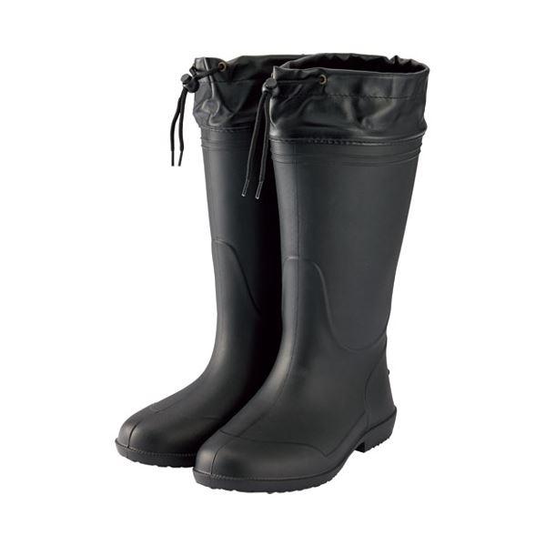 (まとめ) ミタニコーポレーション 軽量長靴ホッパー01 L ブラック 214146【×5セット】