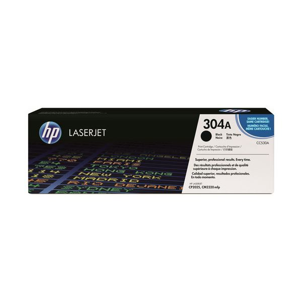 HP プリントカートリッジ 黒CC530A 1個