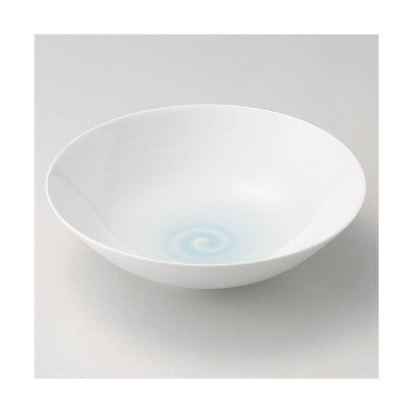 山口隆作 青白磁鳴門紋8寸鉢