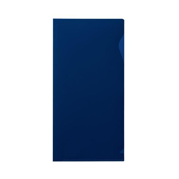 (まとめ)プラス ぴったりすっきりホルダー長3 ブルー(不透明) 10枚【×200セット】