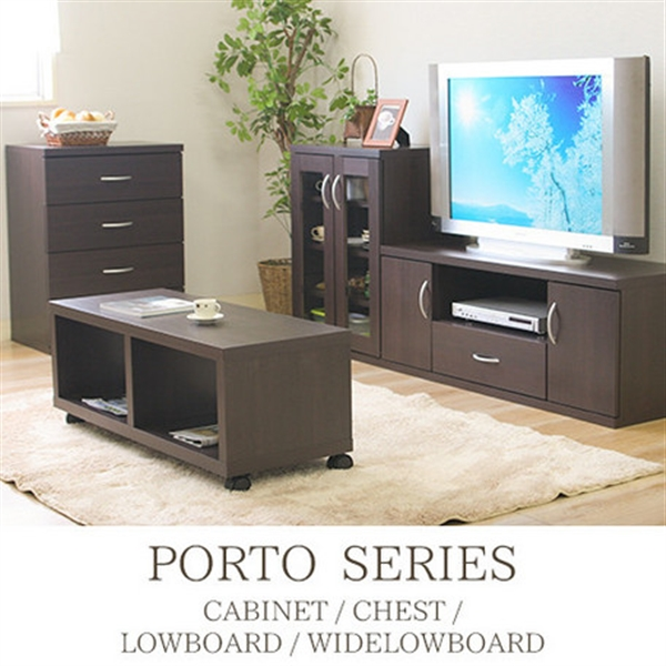 組み立て家具 ポルトシリーズ 4種 ポルト チェスト 高級な 即日出荷 ブラウン 82509 POB-6080CH 86063