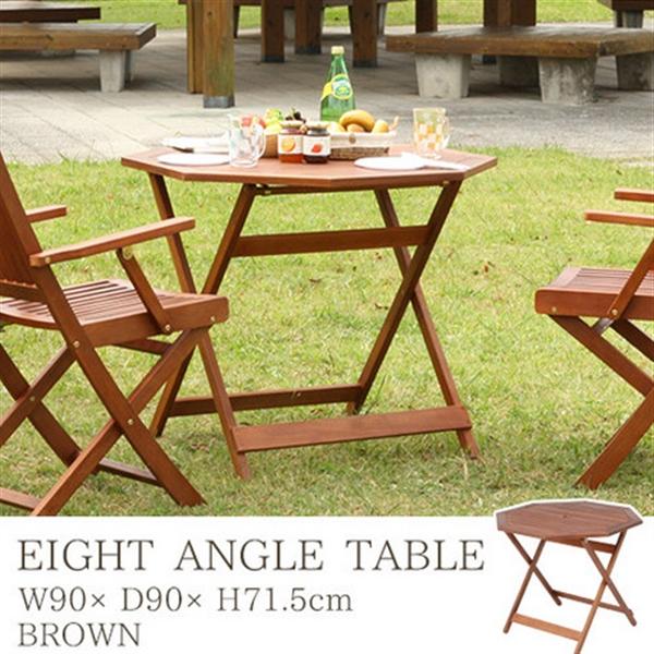 八角テーブル Φ90cm (81061)
