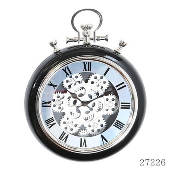 掛時計 ギア L Φ52cm BLACK (27222)