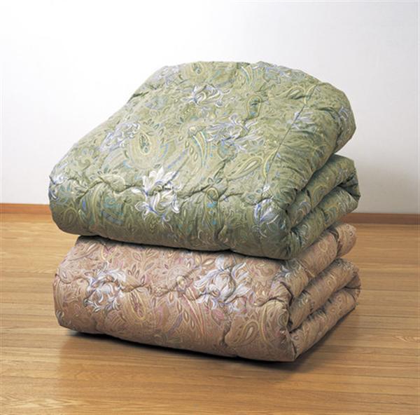 ボリューム羊毛混掛布団 ダブルグリーン 防ダニ・防臭・抗菌加工