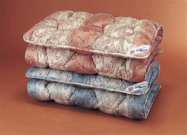 中央増量敷布団 ピンク ダブル英国羊毛(ステッキマークゴールドラベル)