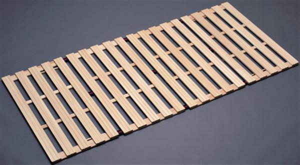 桐四つ折りすのこベッド(長板タイプダブル <日本製>