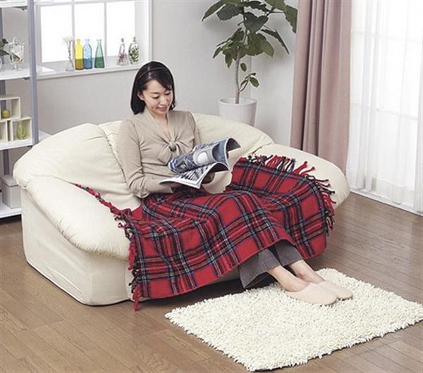 かわいい電気ひざかけ毛布グリーン