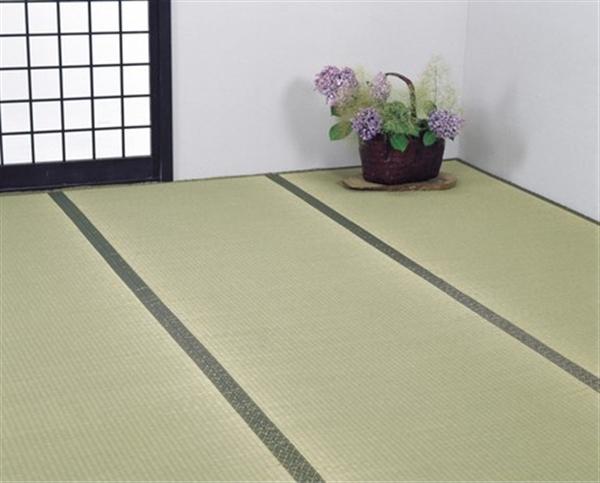 国産双目織い草上敷・ヒバ加工8畳 352×352cm
